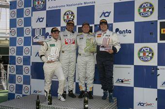 Podio gara 1,  Busnelli Moccia (DTM Motorsport, SEAT Leon Cupra B2.0T #101), Andrea Solime (DTM Motorsport, SEAT Leon Cupra B2.0T #102), Giuseppe Bodega (Romeo Ferraris, Peugeot RCZ Cup #147) , TCR ITALY TOURING CAR CHAMPIONSHIP