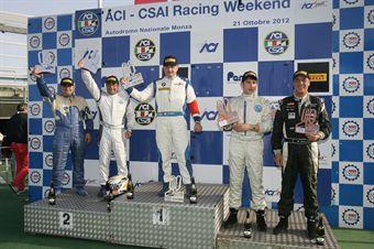 Podio gara 2, Mariano Bellin (ITA), BMW 320 #201, Romano Eldino ( Alfa Romeo 147 #212), Zanin  Conte (Promotorsport, Bmw E 46 2.0 B 24h 2.0 #203) , TCR ITALY TOURING CAR CHAMPIONSHIP