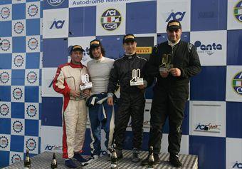 Podio gara 2, Libe Rognoni (Autostar, Renault Clio Cup Clio Cup #123), Malatesta Capppelli (Autostar, Renaul Clio Cup Clio Cup #122) , TCR ITALY TOURING CAR CHAMPIONSHIP