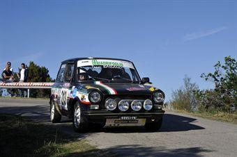 Giuseppe Cazziolato Aldo Gecchele (Team Bassano, Autobianchi A 112 Abarth # 213), CAMPIONATO ITALIANO RALLY AUTO STORICHE
