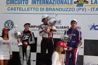 KF2   Podio 2 Cucco, Ilott, Vigorito, CAMPIONATO ITALIANO ACI KARTING