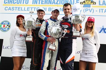 KZ2   Podio 2 Celenta, Pollini, Giulietti, CAMPIONATO ITALIANO ACI KARTING