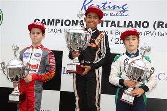 60 Mini   Podio gara 2 Muizzuddin, Podobsky, Marseglia, CAMPIONATO ITALIANO ACI KARTING