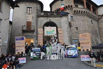 Podium: Paolo Andreucci (ITA) Anna Andreussi (ITA), Peugeot 207 S2000, Racing Lions (race winner), Umberto Scandola (ITA) Guido D Amore (ITA), Skoda Fabia S2000, Skoda Italia Motorsport (2nd position), Alessandro Perico (ITA) Fabrizio Carrara (ITA), Peugeot 207 S2000 (3rd position), CAMPIONATO ITALIANO RALLY SPARCO