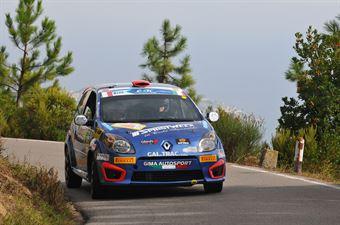 Fabrizio Andolfi Jr, Andrea Casalini (Renault Twingo R2B #46, Sport Management), CAMPIONATO ITALIANO RALLY SPARCO