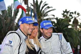 Claudia Peroni, Giandomenico Basso, Mitia Dotta (Peugeot 207 #2, Movisport), CAMPIONATO ITALIANO RALLY SPARCO