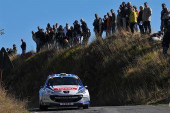 Craig Breen, Lara Vanneste (Peugeot 207 S2000 #1, Peugeot Rally Academy), CAMPIONATO ITALIANO RALLY SPARCO