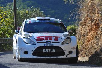 Vasily Gryasin, Dimitry Chumak (Ford Fiesta S2000 Sport #8, Racing Technologies), CAMPIONATO ITALIANO RALLY SPARCO