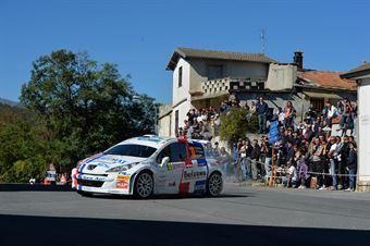 Alessandro Perico, Fabrizio Carrara (Peugeot 207 S2000 #10, Pa Racing Srl), CAMPIONATO ITALIANO RALLY SPARCO
