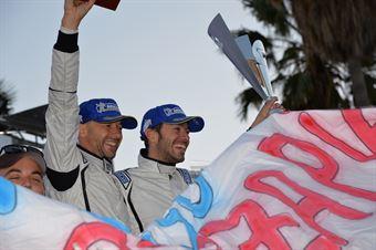 Podium: Giandomenico Basso, Mitia Dotta (Peugeot 207 #2, Movisport), CAMPIONATO ITALIANO RALLY SPARCO