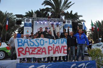 Podium: Giandomenico Basso, Mitia Dotta (Peugeot 207 #2, Movisport), race winner, CAMPIONATO ITALIANO RALLY SPARCO