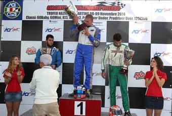 KZ2   Podio 1. Pastacaldi, 2. Albano Strucco, 3. Stinchelli, CAMPIONATO ITALIANO ACI KARTING