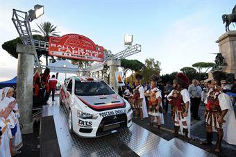 Andrea Perego, Fabrizio Carrara (Mitsubishi Lancer Evo X #5, BAS Motorsport);, CAMPIONATO ITALIANO RALLY