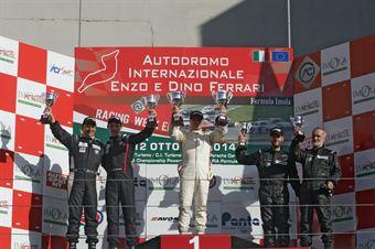 Gara 1 podio, Pasquale Notarnicola (Autostar Motorsport,Renault New Clio E B 24h 2.0 #207), Zanin Zanin (Pro.Motorsport, BMW320i B 24h 2.0 #202), Fumagalli Fumagalli (Zerocinque Motorsport, BMW 320i B 24h 2.0 #212), TCR ITALY TOURING CAR CHAMPIONSHIP