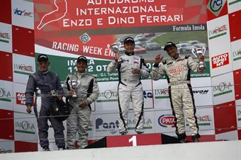 Gara 2 podio Seat, Busnelli Moccia (DTM Motorsport, SEAT Leon Long Run B 2.OT #1), Montalbano Vita (MM Motorsport,SEAT Leon Long Run B 2.OT #5), TCR ITALY TOURING CAR CHAMPIONSHIP
