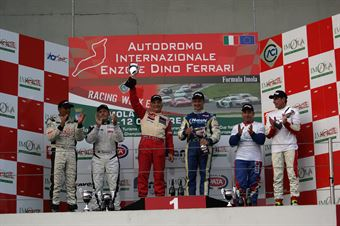 Podio gara 2, Meloni Necchi ( W&D Racing Team Sc. S.Marino, BMW M3 E46 #31), Busnelli Moccia (DTM Motorsport, SEAT Leon Long Run B 2.OT #1), Meloni Tresoldi (W&D RT Sc. S.Marino , BMW M3 E46 #32), TCR ITALY TOURING CAR CHAMPIONSHIP