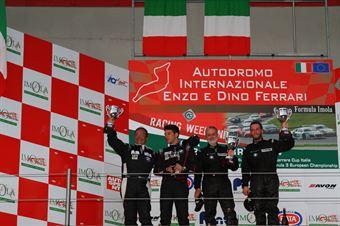Gara 2 podio S2000, Fumagalli Fumagalli (Zerocinque Motorsport, BMW 320i B 24h 2.0 #212), Piccin Piccin (ASD Super 2000, Honda integra B 24h 2.0 #204), TCR ITALY TOURING CAR CHAMPIONSHIP