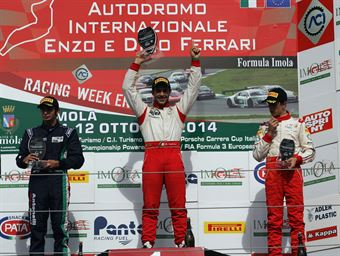 Podio gara 1, Andrea Fontana (Euronova Racing by Fortec It Motorsport, Tatuus F.4 T014 Abarth #3), Matteo Desideri (Antonelli Motorsport,Tatuus F.4 T014 Abarth #44), Leonardo Pulcini ( DAV Racing,Tatuus F.4 T014 Abarth #4), ITALIAN F.4 CHAMPIONSHIP POWERED BY ABARTH