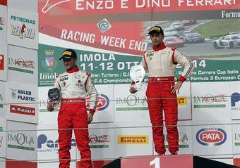 Gara 3 podio Trofeo, Brandon Maisano (Prema Powerteam Srl,Tatuus F.4 T014 Abarth #81), Keith Camilleri (Malta Formula Racing,Tatuus F.4 T014 Abarth #82), ITALIAN F.4 CHAMPIONSHIP POWERED BY ABARTH