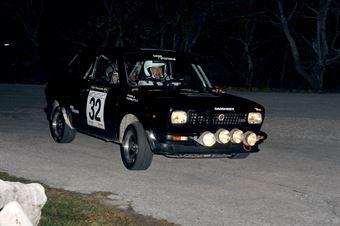 Simone Bortolotti Alessio Roda (Fiat 127 Sport 70 HP # 32), CAMPIONATO ITALIANO RALLY AUTO STORICHE