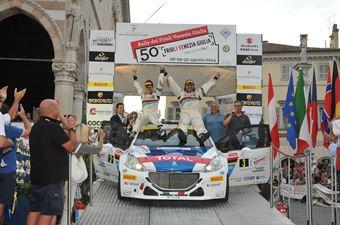Paolo Andreucci, Anna Andreussi (Peugeot 208T16, #3) Racing Lions, vincitori assoluti 50?Rally del Friuli;, CAMPIONATO ITALIANO RALLY