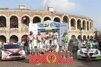 Mitia Dotta, Giandomenico Basso, Anna Andreussi, Paolo Andreucci, Umberto Scandola, Guido D Amore, Cerimonia di Premiazione Campionato Italiano Rally CIR., CAMPIONATO ITALIANO RALLY