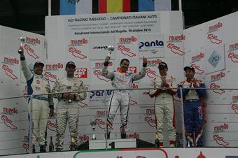 Podio gara 2, Jordi Genè Guerrero(Seat Motorsport Italia,Seat Leon Racer TCR #103), Meloni Tresoldi (W&D Racing Team,BMW M3 E46 #1), Palazzo Zanin (W&D Racing Team,BMW M3 E46 #2) , TCR ITALY TOURING CAR CHAMPIONSHIP
