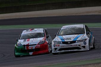 Piccin Paravati (A.S.D. Super 2000, Honda Civic Type R B 24h 2.0 #205), Notarnicola Montalbano (Autostar Motorsport,Renault New Clio B24 2.0 #212) , TCR ITALY TOURING CAR CHAMPIONSHIP
