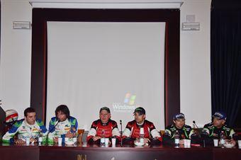 Conferenza Stampa: Manuel Sossella, Gabriele Falzone (Ford Fiesta WRC #2, Palladio), Paolo Porro, Paolo Cargnellutti (Ford Focus WRC #5, Bluthunder Racing Italy), Alessandro Perico, Mauro Turati (Ford Fiesta WRC #9, Vs Corse), CAMPIONATO ITALIANO WRC
