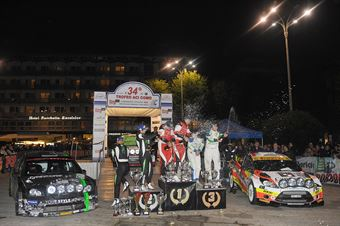 Podio: Manuel Sossella, Gabriele Falzone (Ford Fiesta WRC #2, Palladio), Paolo Porro, Paolo Cargnellutti (Ford Focus WRC #5, Bluthunder Racing Italy), Alessandro Perico, Mauro Turati (Ford Fiesta WRC #9, Vs Corse), CAMPIONATO ITALIANO WRC