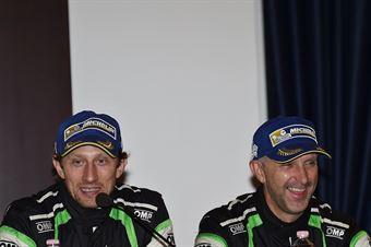 Conferenza Stampa: Paolo Porro, Paolo Cargnellutti (Ford Focus WRC #5, Bluthunder Racing Italy), CAMPIONATO ITALIANO WRC