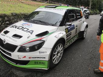 Stefano Baccega, Marco Menchini (Skoda Fabia S2000 #16, Giessepromotion)_shakedown, CAMPIONATO ITALIANO WRC