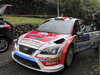 Marco Signor, Patrick Bernardi (Ford Focus WRC #3, Sama Racing Asd)_shakedown, CAMPIONATO ITALIANO WRC
