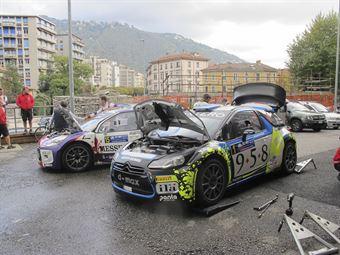 Alessandro Bosca, Roberto Aresca (Citroen DS3 WRC #1, Eurospeed) e Alessandro Re, Giacomo Ciucci (Citroen DS3 R5 #15, Dmax Suisse)_shakedown, CAMPIONATO ITALIANO WRC