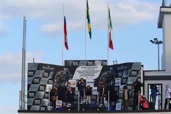Podio gara 2, Joao Vieira (Antonelli Motorsport,Tatuus F.4 T014 Abarth #50), Robert Shwartzman (Mucke Motorsport,Tatuus F.4 T014 Abarth #4), Diego Bertonelli (RB Racing,Tatuus F.4 T014 Abarth #21) , ITALIAN F.4 CHAMPIONSHIP POWERED BY ABARTH