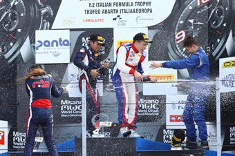 Podio gara 3,Marcos Siebert (Jenzer Motorsport,Tatuus F.4 T014 Abarth #7)Ye Yifei (RB Racing,Tatuus F.4 T014 Abarth #20), Simone Cunati (Vincenzo Sospiri Racing Srl,Tatuus F.4 T014 Abarth #18) , ITALIAN F.4 CHAMPIONSHIP POWERED BY ABARTH