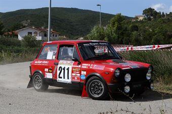 Pinzoni Antonello,Labirinti Matteo(Autobianchi A112 Abarth,Team Bassano,#211), CAMPIONATO ITALIANO RALLY AUTO STORICHE
