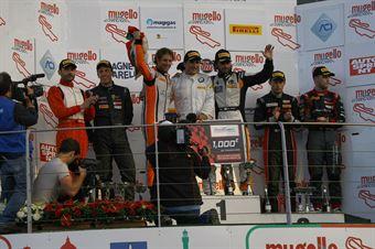 Podio S.GT3 gara 2, Alessandro Zanardi (BMW Team Italia,BMW M6 SGT3 #50), Melo Schirò (Easy Race,Ferrari 458 SGT3 #11), Mapelli Vanthoor (Audi Sport Italia, Audi R8 LMS GT3 #8) Venturi Gai (Black Bull Swisse Racing, Ferrari 488 S.GT3 #46), ITALIAN GRAN TURISMO CHAMPIONSHIP