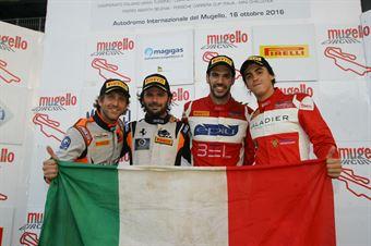 Venturi Gai (Black Bull Swisse Racing, Ferrari 488 S.GT3 #46), Leo Cheever (Scuderia Baldini 27 Network,Ferrari 458 Italia GT3 #72, ITALIAN GRAN TURISMO CHAMPIONSHIP