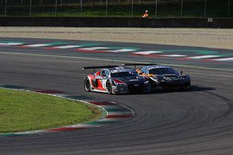 Venturi Gai (Black Bull Swisse Racing, Ferrari 488 S.GT3 #46), Mapelli Vanthoor (Audi Sport Italia, Audi R8 LMS GT3 #8) , ITALIAN GRAN TURISMO CHAMPIONSHIP