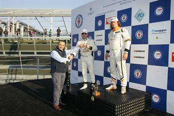 Podio TCR gara 2, Enrico Bettera  (Pit Lane,Seat Leon SEQ. TCR #41), Dall'Antonia Piccin (BF Racing,Seat Leon Racer TCR #7) , TCR ITALY TOURING CAR CHAMPIONSHIP