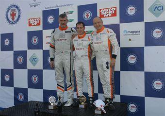 Podio TCS, Andrea Bassi (Girasole,Seat Leon TCS 2.0 #108), Pelatti Rodio (Girasole,Seat Cupra ST TCS 2.0 #107), Giampiero Wyhinny (Girasole, SEAT Cupra ST TCS #101)  , TCR ITALY TOURING CAR CHAMPIONSHIP