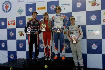 Podio Rookie gara 1, Lorenzo Colombo (Bhaitech Srl,Tatuus F.4 T014 Abarth #37), Giacomo Altoè Ian Rodriguez Wright (DRZ Benelli,Tatuus F.4 T014 Abarth #45), Fabienne Wohlwend (DR Formula,Tatuus F.4 T014 Abarth #46)            , ITALIAN F.4 CHAMPIONSHIP POWERED BY ABARTH
