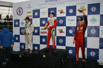 Podio Rookie gara 3, Juri Vips (Prema Power Team,Tatuus F.4 T014 Abarth #44), Ian Rodriguez Wright (DRZ Benelli,Tatuus F.4 T014 Abarth #45), Artem Petrov (DR Formula,Tatuus F.4 T014 Abarth #42)        , ITALIAN F.4 CHAMPIONSHIP POWERED BY ABARTH