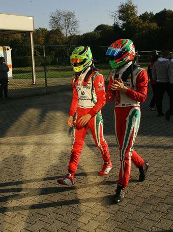 Mick Schumacher (Prema Power Team,Tatuus F.4 T014 Abarth #5),Juri Vips (Prema Power Team,Tatuus F.4 T014 Abarth #44), ITALIAN F.4 CHAMPIONSHIP POWERED BY ABARTH
