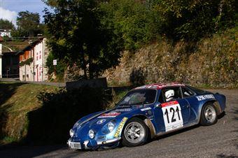 Capsoni Luigi,Zambiasi Lucia(Renault alpine A110,#121), CAMPIONATO ITALIANO RALLY AUTO STORICHE