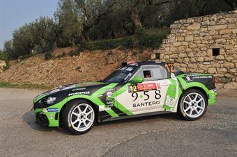 Fabrizio Andolfi Jr, Patrizia Romano (Abarth 124 Rally #12, Eurospeed), CAMPIONATO ITALIANO RALLY SPARCO