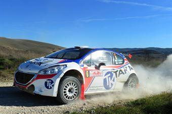 Giacomo Costenaro, Justin Bardini (Peugeot 208 T16 R5 #6, Rally Team), CAMPIONATO ITALIANO RALLY TERRA