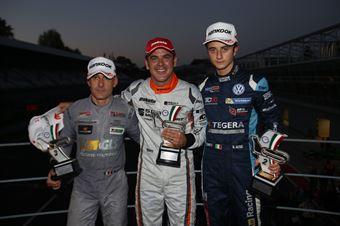 Podio gara 2, Nicola Baldan (Pit Lane,Seat Leon TCR TCR #8)., Giacomo Altoè (Target Srl,Audi RS3 LMS TCR #10), Max Mugelli (Pit Lane,Audi RS3 LMS TCR #3)  , TCR ITALY TOURING CAR CHAMPIONSHIP