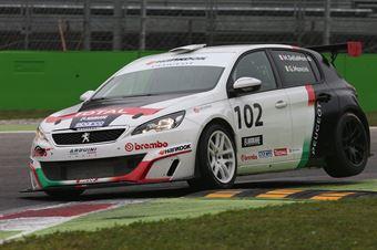 Della Monica Mancini (Arduini Corse,PeugeoT 308 MI16 TCT#102) , TCR ITALY TOURING CAR CHAMPIONSHIP